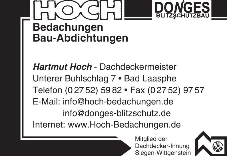 Hartmut Hoch - Dachdeckermeister