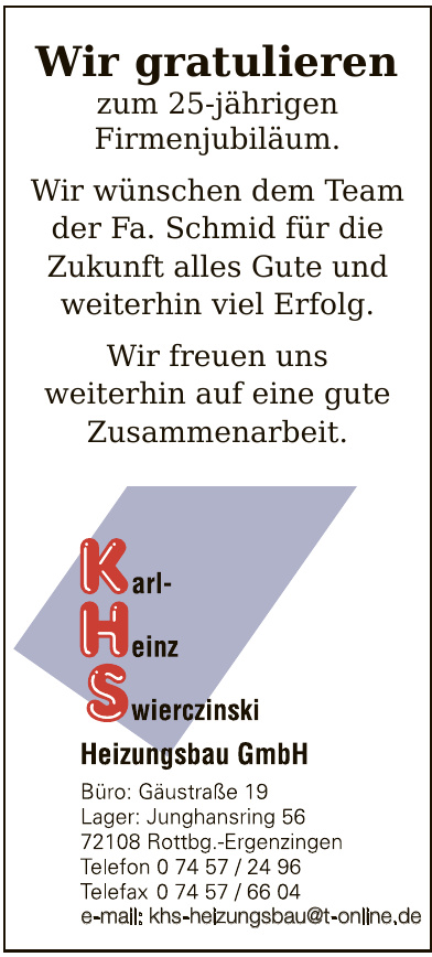 KHS Karl-Heinz-Swirczinski Heizungsbau GmbH