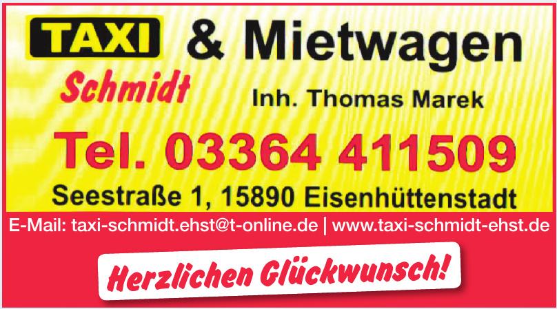 Taxi & Mietwagen Schmidt