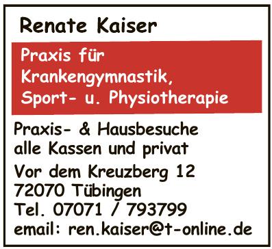 Renate Kaiser - Praxis für Krankengymnastik, Sport- u. Physiotherapie