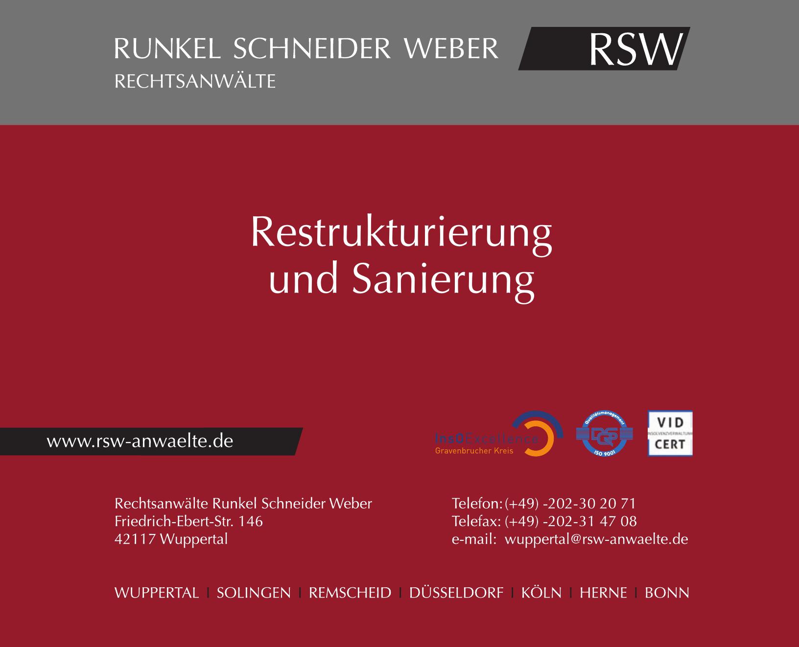 Rechtsanwälte Runkel Schneider Weber