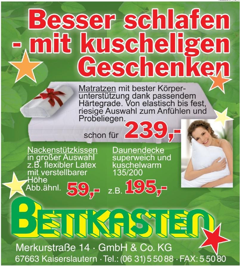 Matratzen- und Betten- Fachmarkt Bettkasten GmbH & Co. KG