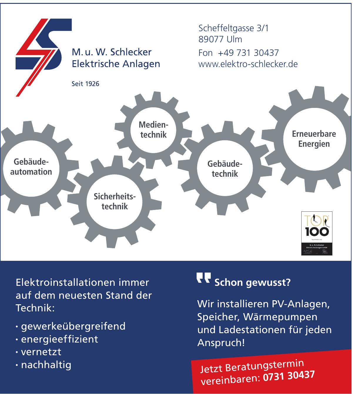M. u. W. Schlecker Elektrische Anlagen GmbH