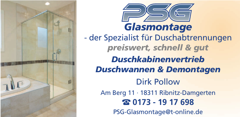 PSG Glasmontage Dirk Pollow