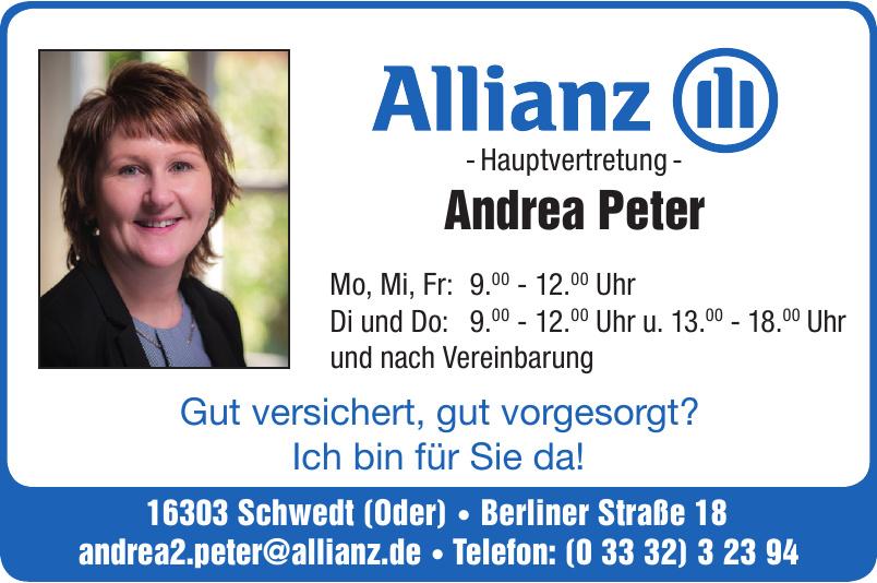 Allianz Hauptvertetung Andrea Peter