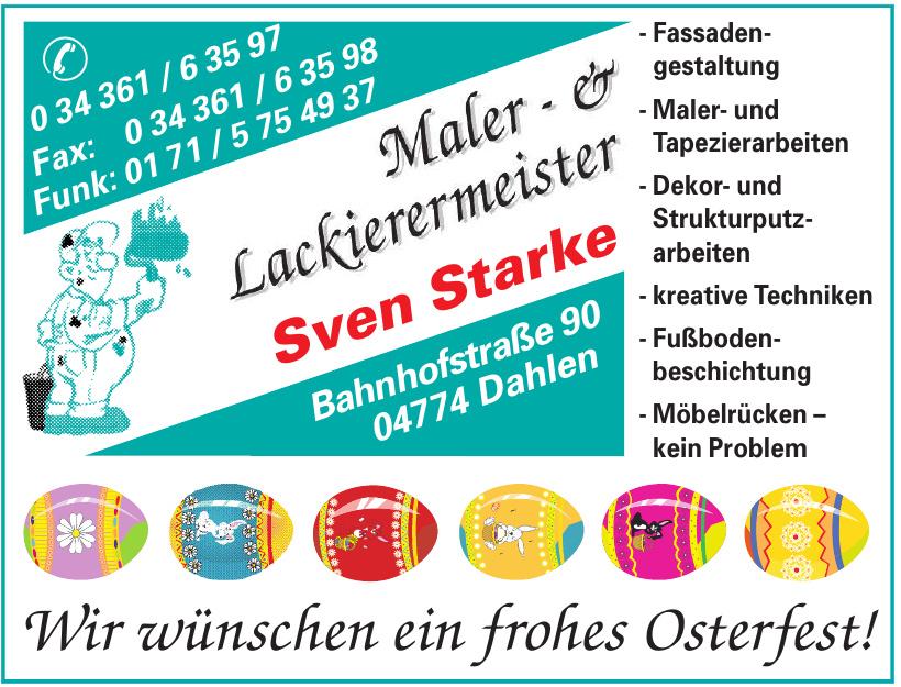 Maler- & Lackierermeister Sven Starke