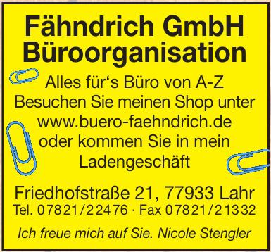 Fähndrich GmbH Büroorganisation