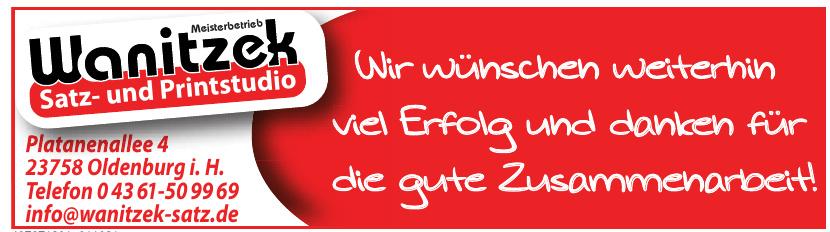 Meisterbetrieb Wanitzek Satz- und Printstudio