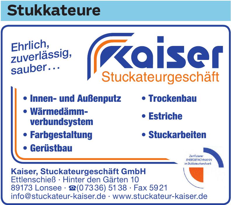 Kaiser, Stuckateurgeschäft GmbH