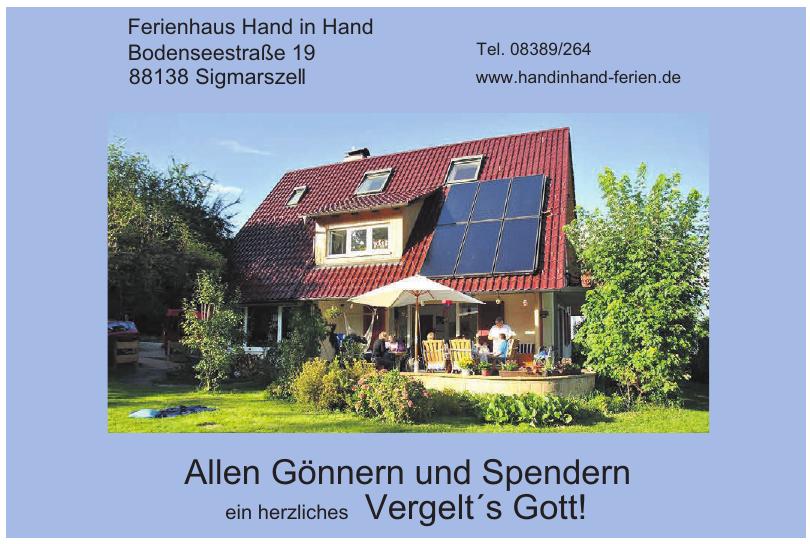 Ferienhaus Hand in Hand