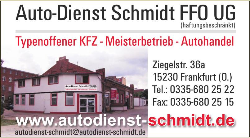 Auto-Dienst Schmidt FFO UG