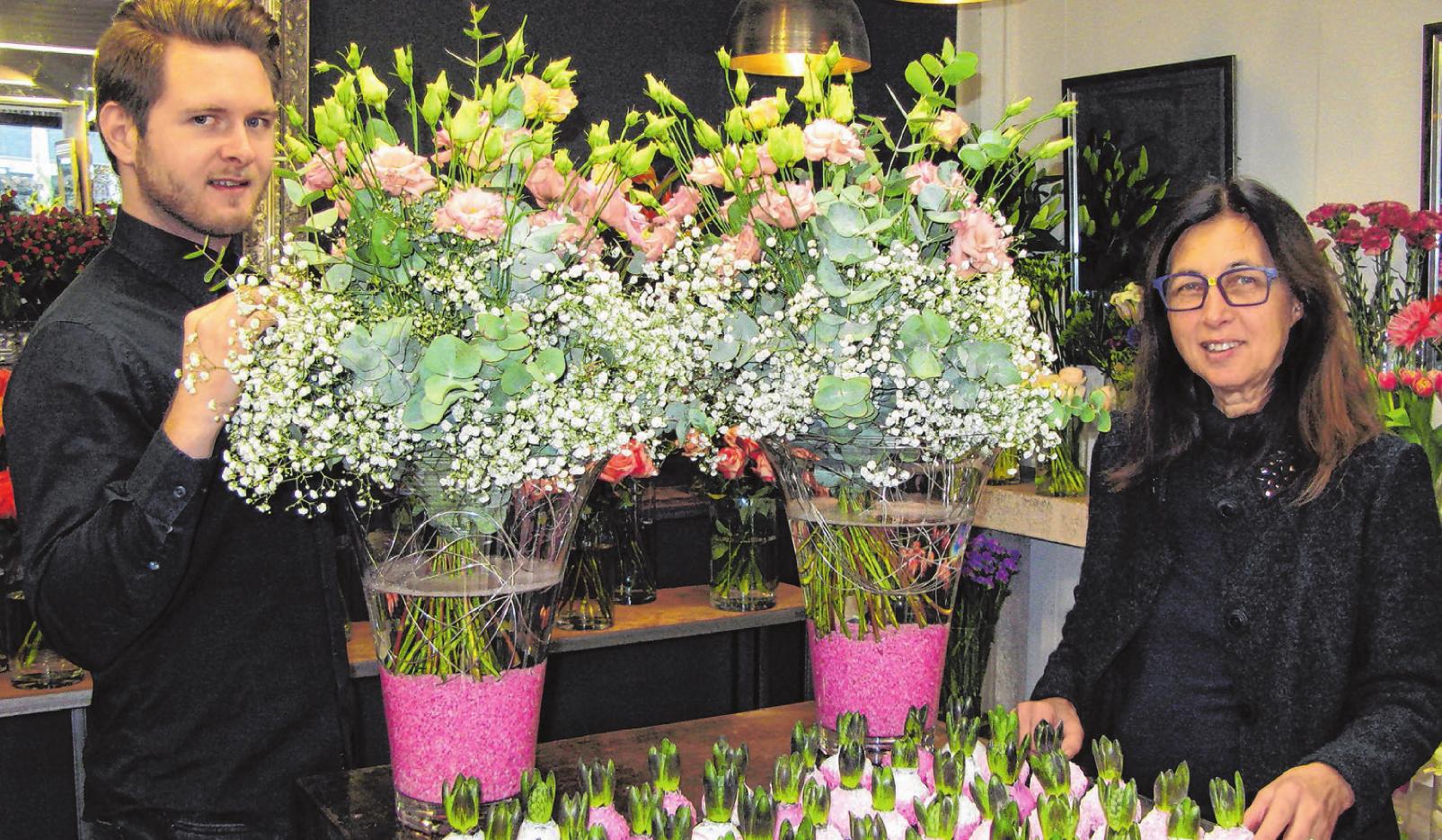 Ingo Saur tritt bei Blumen Florales die Nachfolge seiner Mutter Erika Göpel-Saur an. Firmenfoto