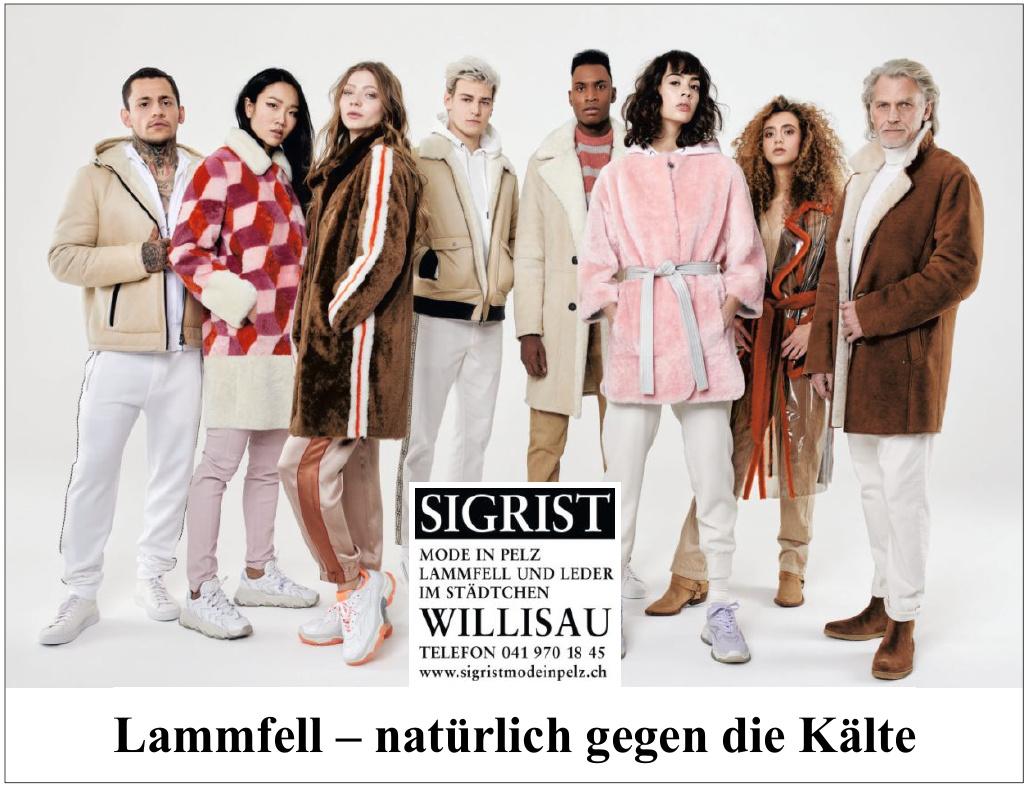 Sigrist Mode in Pelz, Lammfell und Leder