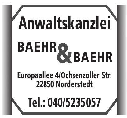 Anwaltskanzlei Baehr & Baehr