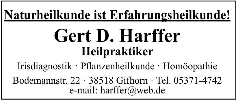 Gert D. Harffer Heilpraktiker