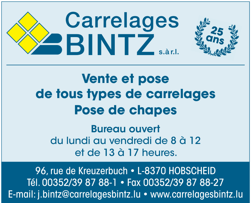 Carrelages Bintz s.à r.l.