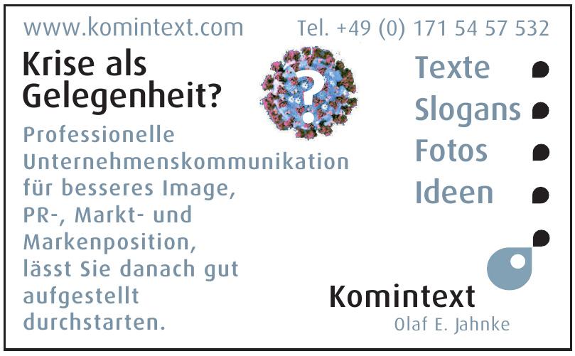 Komintext Olaf E. Jahnke