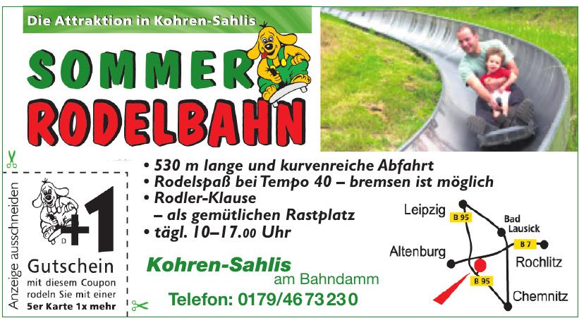 Sommerrodelbahn Kohren-Sahlis