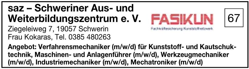 saz – Schweriner Aus- und Weiterbildungszentrum e. V.