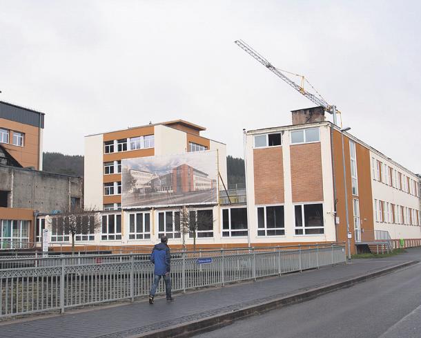 Nach dem Brand schreiten die Arbeiten im Städtischen Johannes-Sturmius-Gymnasium in Schleiden voran Bild: Hanna Bender