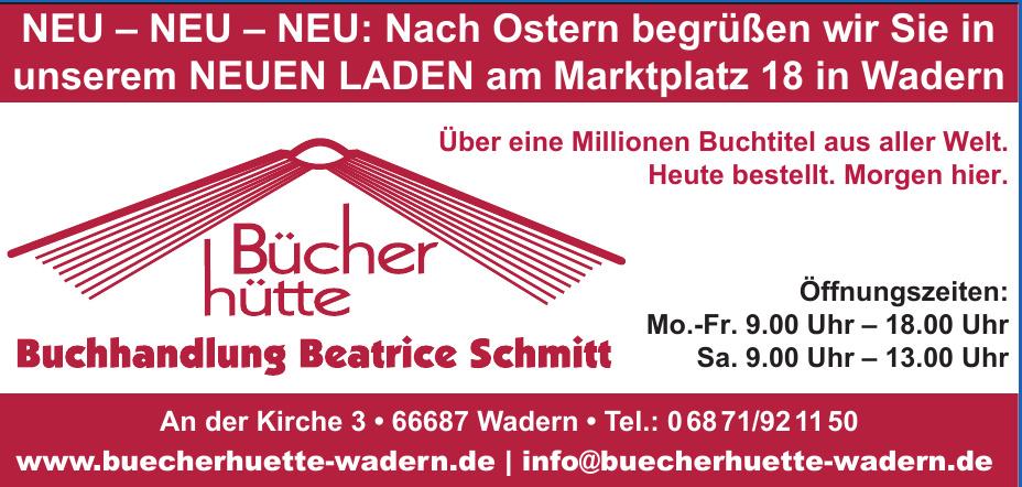 Bücherhütte Buchhandlung Beatrice Schmitt
