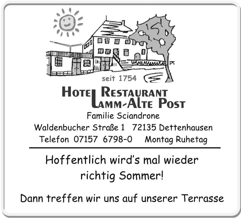 Hotel Restaurant Lamm-Alte Post