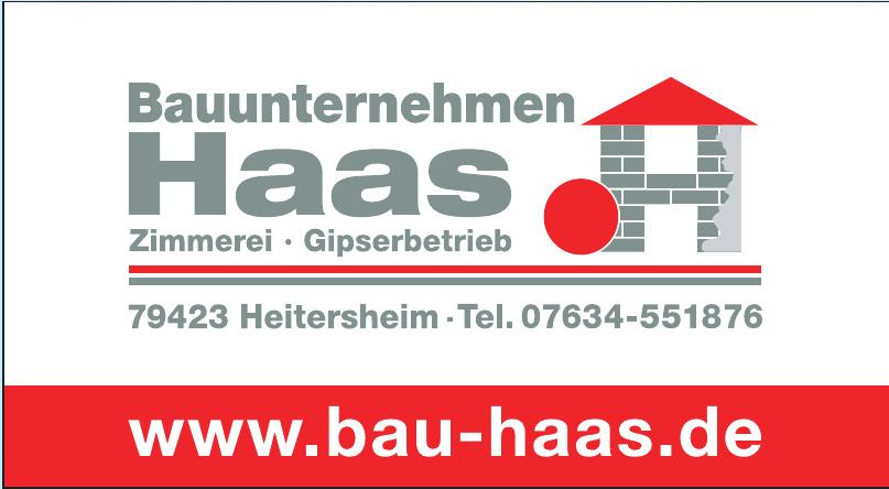 Bauunternehmen Haas