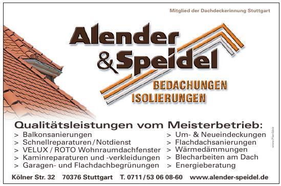 Alender & Speidel Bedachungen Isolierungen