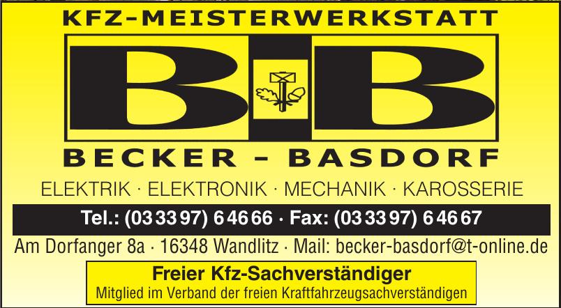 Becker-Basdorf KFZ-Meisterwerkstatt