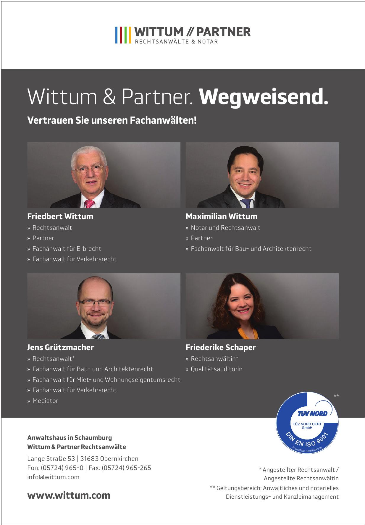 Anwaltshaus in Schaumburg Wittum & Partner Rechtsanwälte