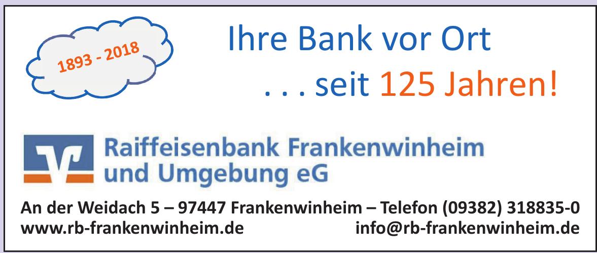 Raiffeisenbank Frankenwinheim und Umgebung e G