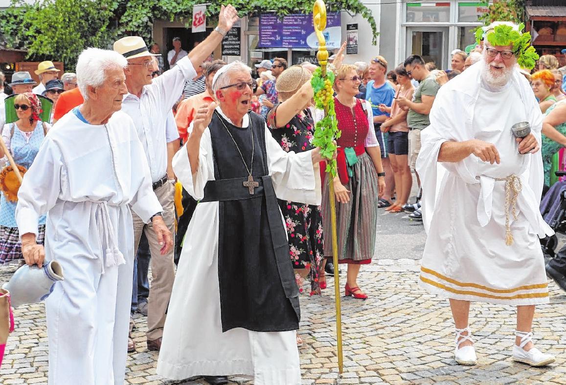 Abt Degen, der Festpatron FOTO: WOLFGANG SANDLER