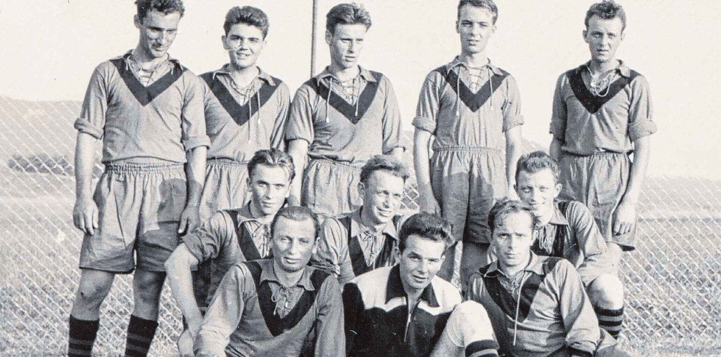 Die Wessinger gründeten 1959 einen eigenen Fußballclub. Mit viel Elan stellten sich die Spieler der Konkurrenz in der Verbandsrunde. Fotos: Jörg Wahl
