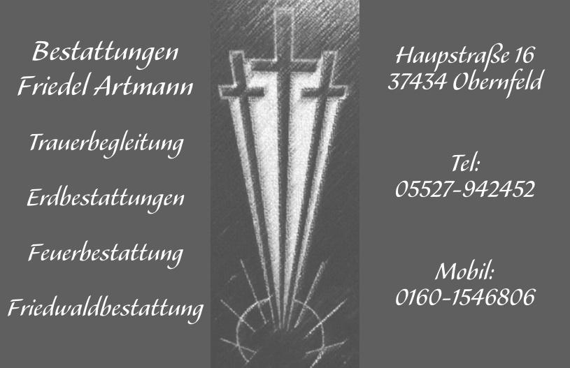Bestattungen Friedel Artmann