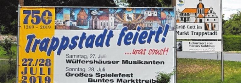 Trappstadt feiert nicht nur gern Fasching, auch die 750-Jahr- Feier, die am Wochenende ansteht, wird spektakulär: Festbetrieb mit Spielstation, Ausstellungen und weitere Highlights stehen auf dem Programm.