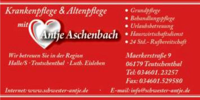 Krankenpflege & Altenpflege Antje Aschenbach