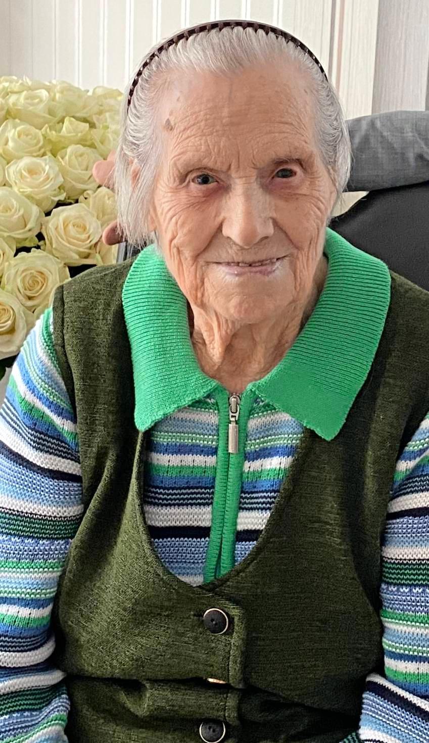 Emma Kraus feierte am 29. Februar ihren 100. Geburtstag. Foto: privat