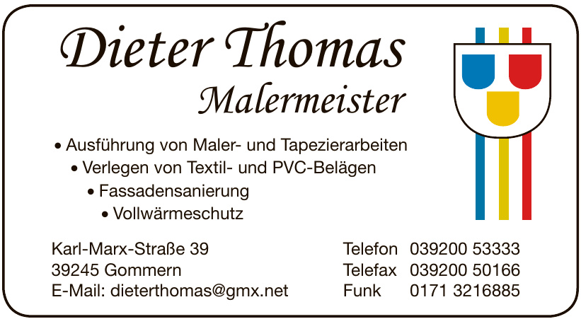 Malermeister Dieter Thomas
