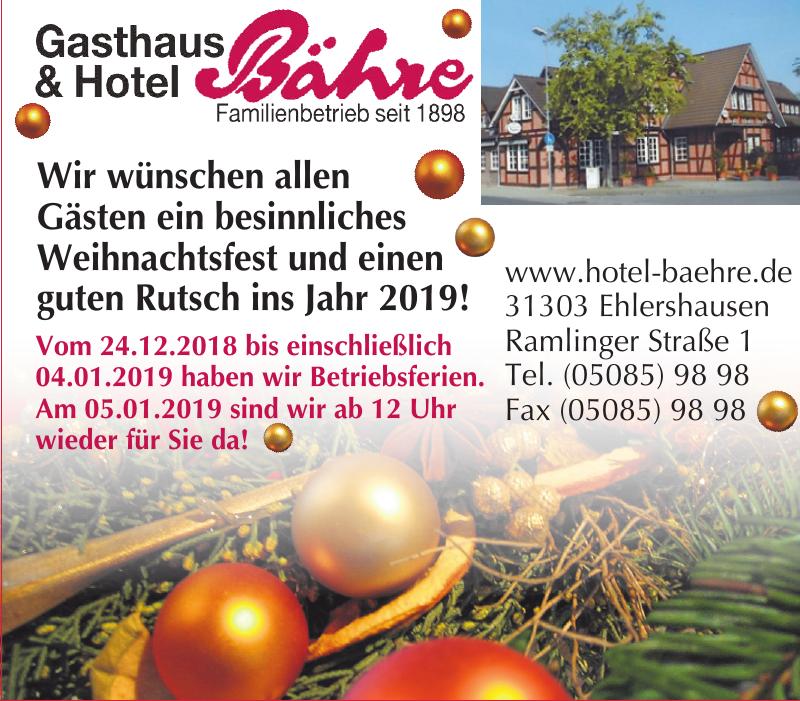 Gasthaus & Hotel Bähre
