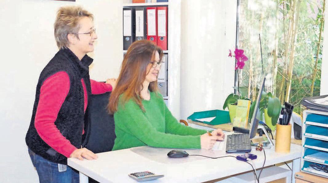 Birgit Steckhan (links) und Monika Szmukala freuen sich auf Unterstützung.