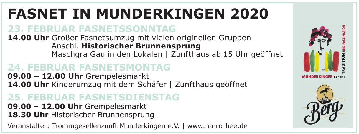 Fasnet in Munderkingen 2020