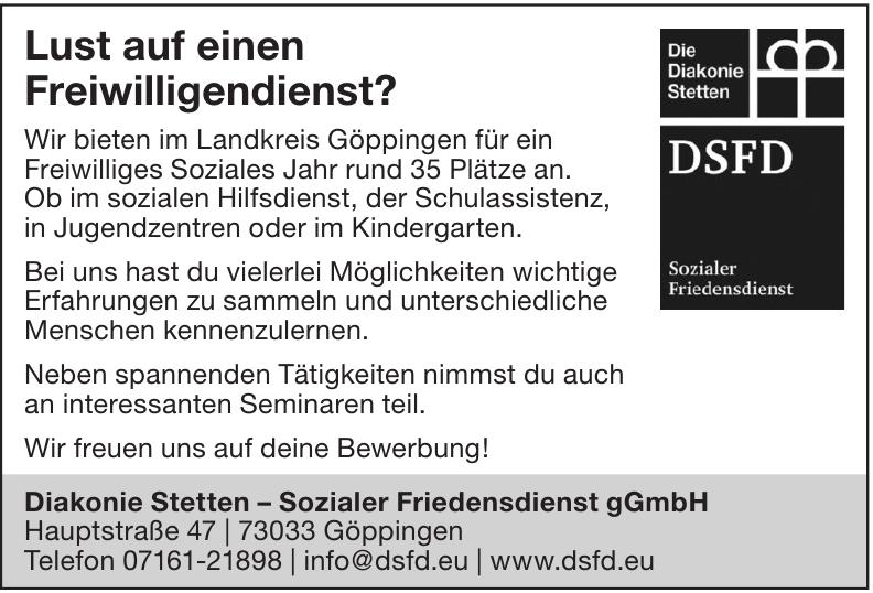 Diakonie Stetten – Sozialer Friedensdienst gGmbH