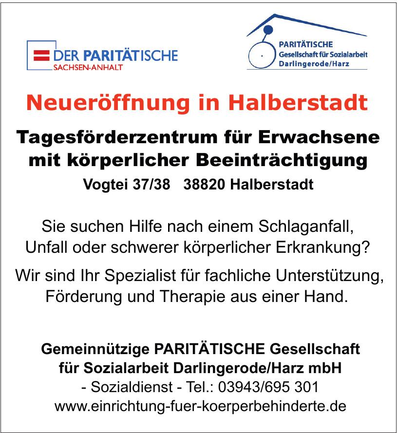 Gemeinnützige Paritätische Gesellschaft für Sozialarbeit Darlingerode/Harz mbH