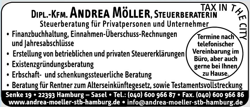 Dipl. Kfm. Andrea Möller Steuerberaterin