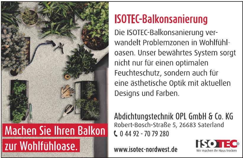 ISOTEC-Fachbetrieb Abdichtungstechnik OPL GmbH & Co. KG