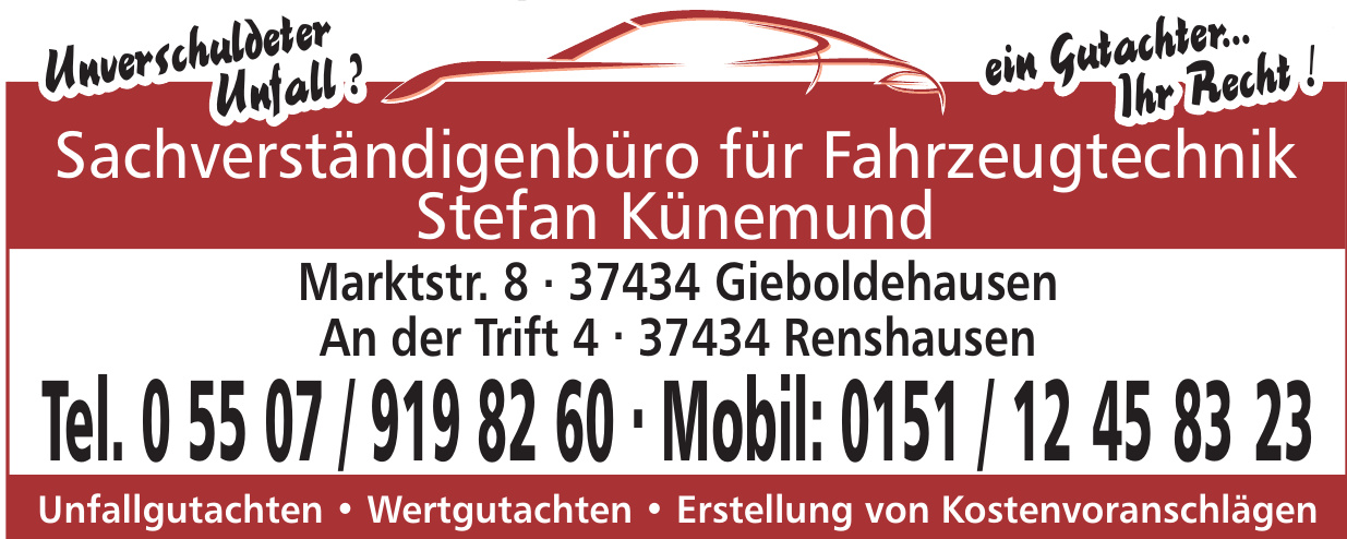 Sachverständigenbüro für Fahrzeugtechnik Stefan Künemund