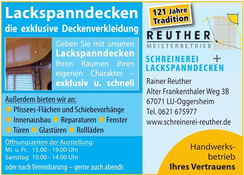 Schreinerei + Lackspanndecken Rainer Reuther
