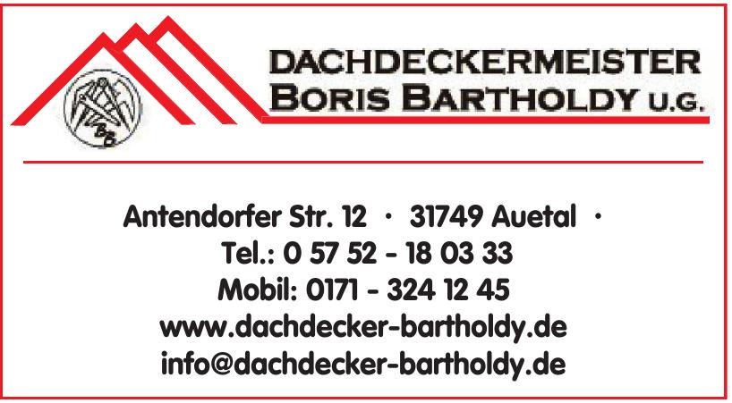Dachdeckermeister Boris Bartholdy UG