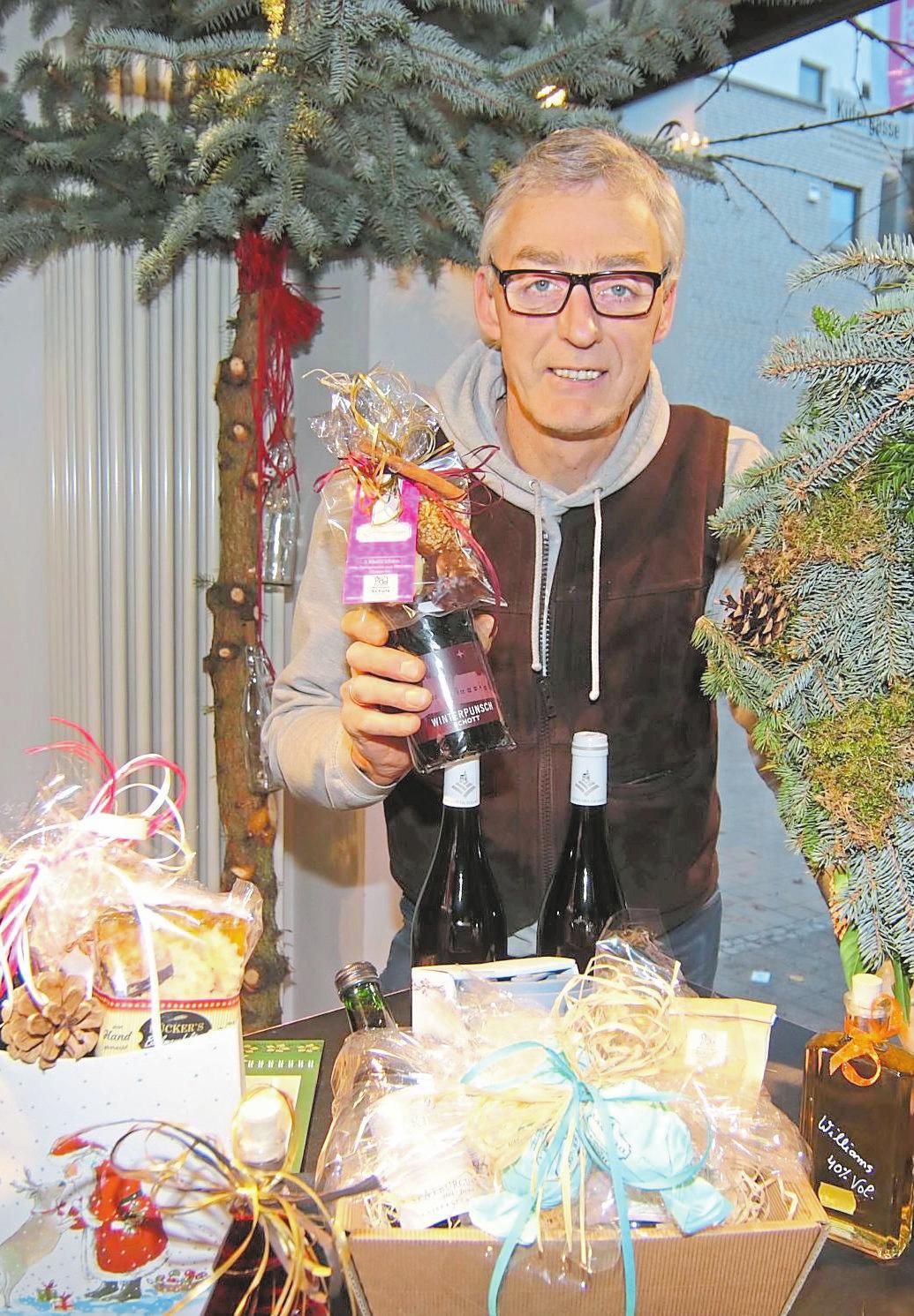 Kulinarische Weihnachtsgeschenke gibt es bei Marcus Schulz. Foto: Ralf Steinhorst