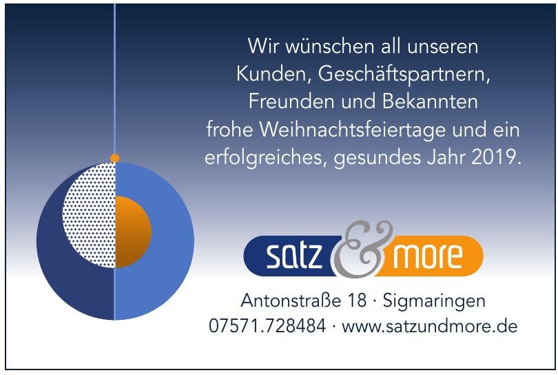 satz & more